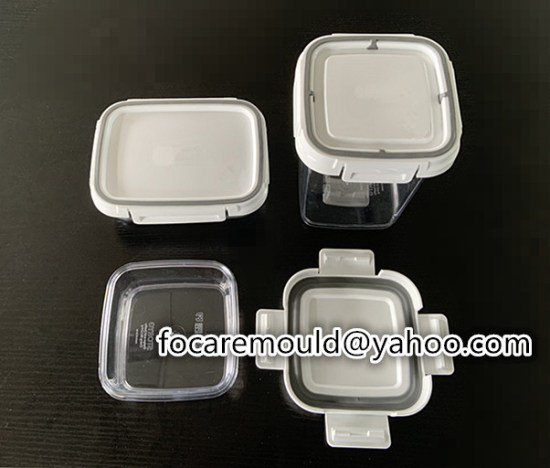 two color sealed container