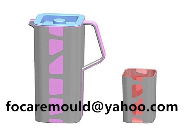 two shot pour spout pitcher mold