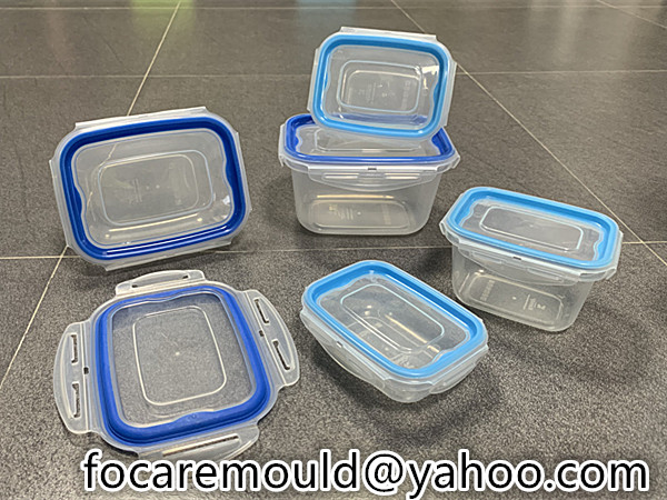 rectangular food sealed container 2 color