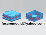 2 material junction box mold