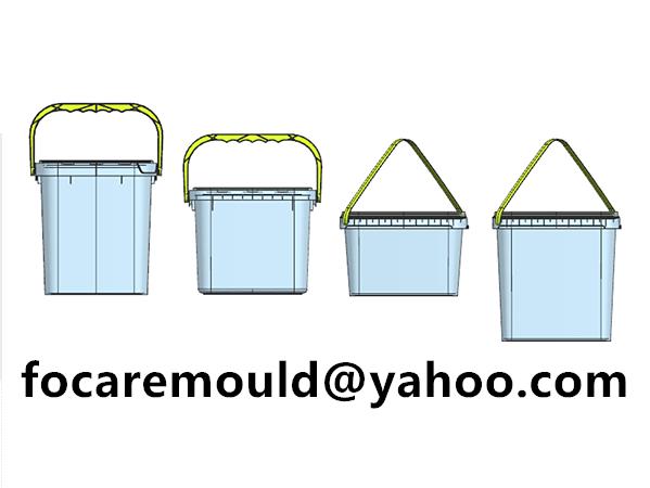 rectangular paint pails mold