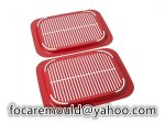 two color anti slip serving trays
