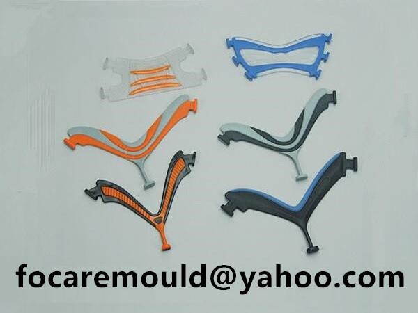 multi shot flip flop strap mold