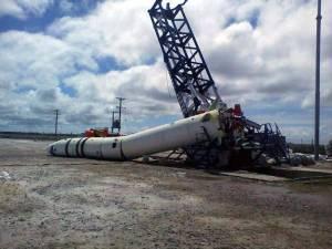 El cohete argentino Tronador II see elevó y cayó