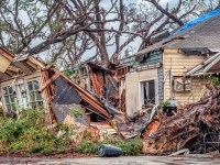 Panama City, Florida, United States. 12/02/2018. Hurricane Michael destroys house in the cove section of Panama City, Florida.