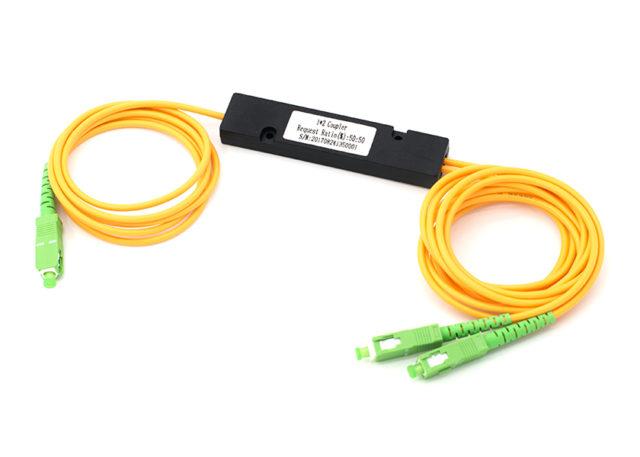 1x2 Single Mode Fused Fiber Optic Coupler, ABS Box Fusion Fiber Splitter