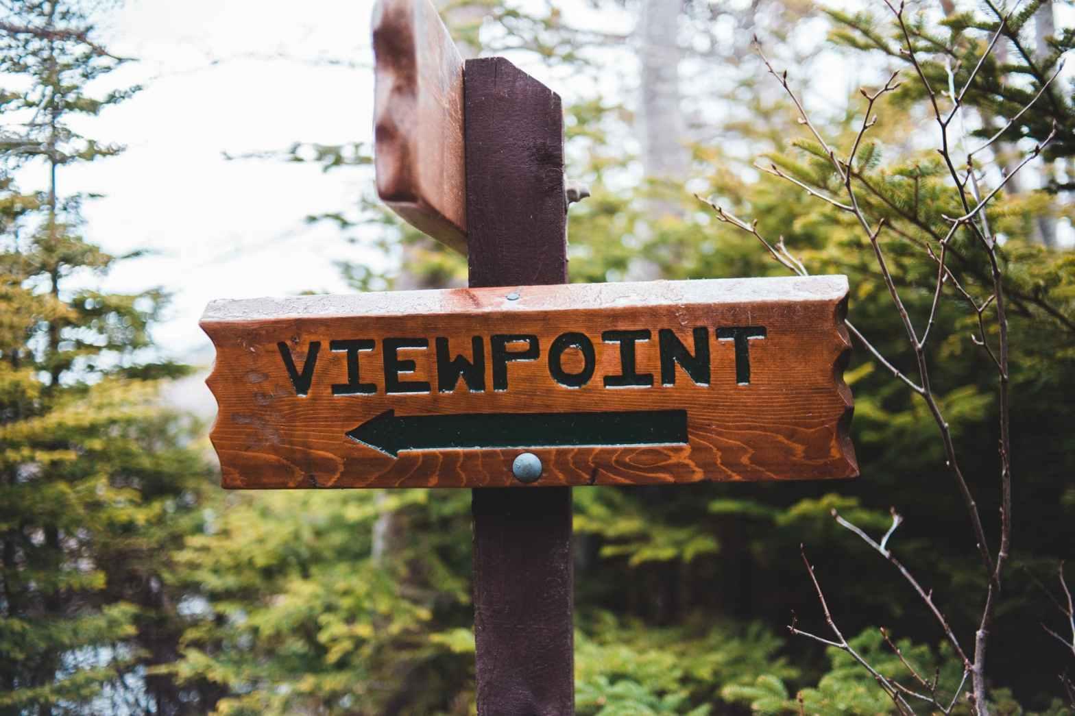 photo of wooden signage
