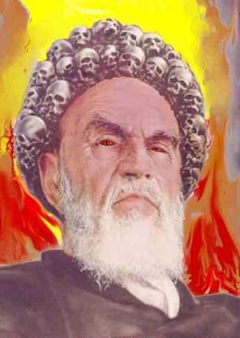 Una immagine esplicativa dell'Ayatollah Ruhollah Khomeini