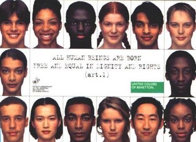 Una delle tante pubblicità filosioniste della Benetton.....
