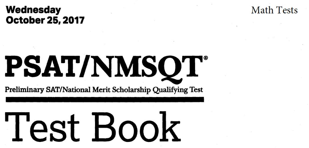 October 2017 PSAT Test - 10-25-2017 - Math tests