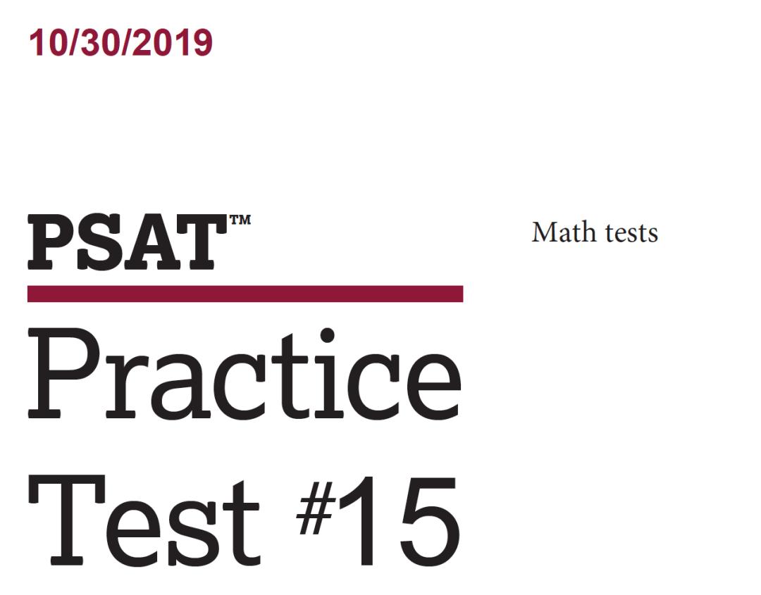 October 2019 PSAT Test - 10-30-2019 - Math Tests