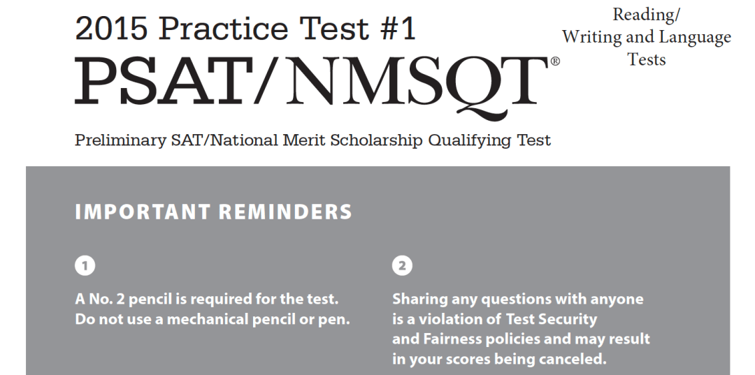 October 2017 PSAT Test - 10-11-2017 - Reading - Writing and Language Tests