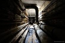 Uno dei tunnel di servizio sotto agli impianti