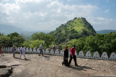 Walking up to the cave temple, Dambulla, Sri Lanka