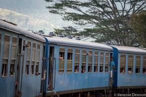The train from Kandy to Nanu Oya, Sri Lanka