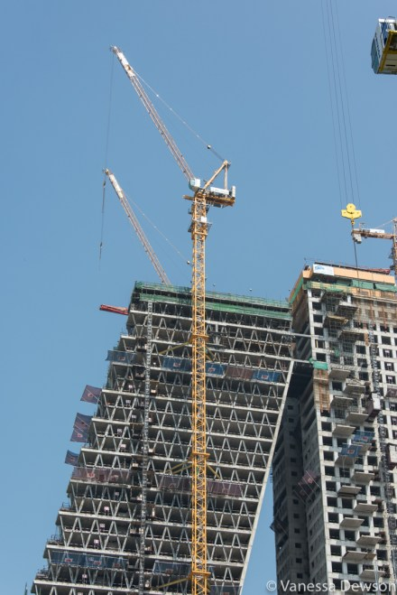 Detail of new buidlings in Colombo