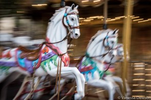 Slow shutter speed of carousel horses.Photo by: Vanessa Dewson