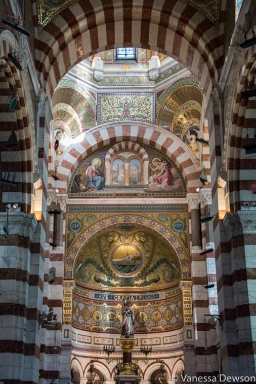 Inside Notre Dame de la Garde. Photo by: Vanessa Dewson