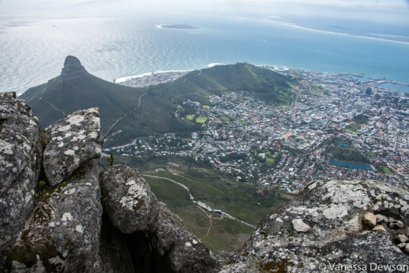 Lion's Head and Signal Hill from Table Mountain
