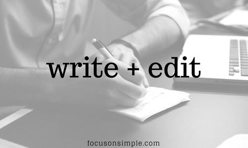 Write & Edit