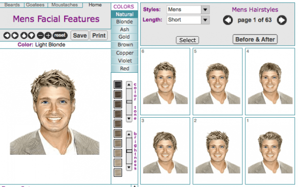 Mens Hairstyle Online Virtual Makeover Page 1