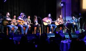 From left to right: Jason Sturgeon, Ben Bradford, Jana Kramer, Josh Osborne, Olivia Lane