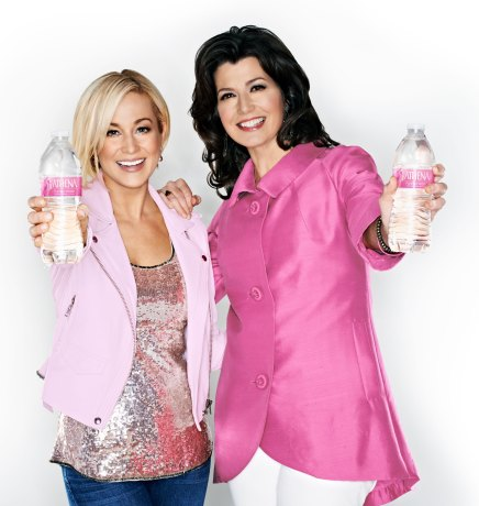 Kellie Pickler and Amy Grant with bottles