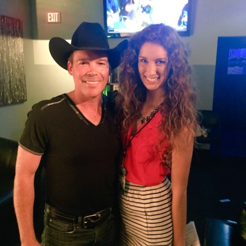"Clay Walker and Alanna Massey backstage at ""Chords of Hope."""