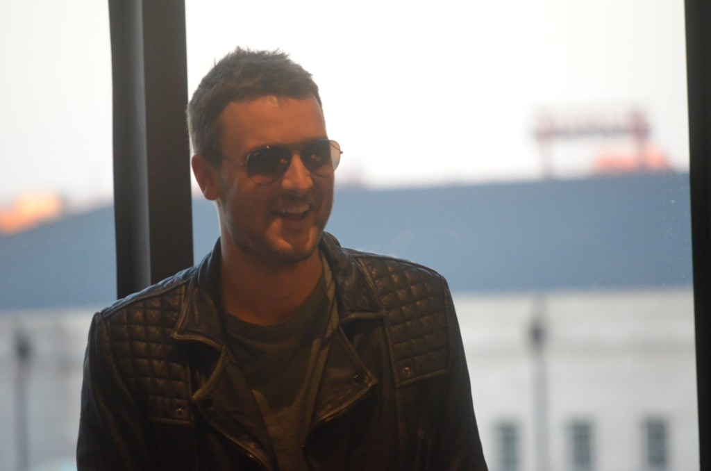 Eric Church speaking at the VIP reception for the grand opening of the INSIDE THE OUTSIDER exhibit at Country Music Hall of Fame.