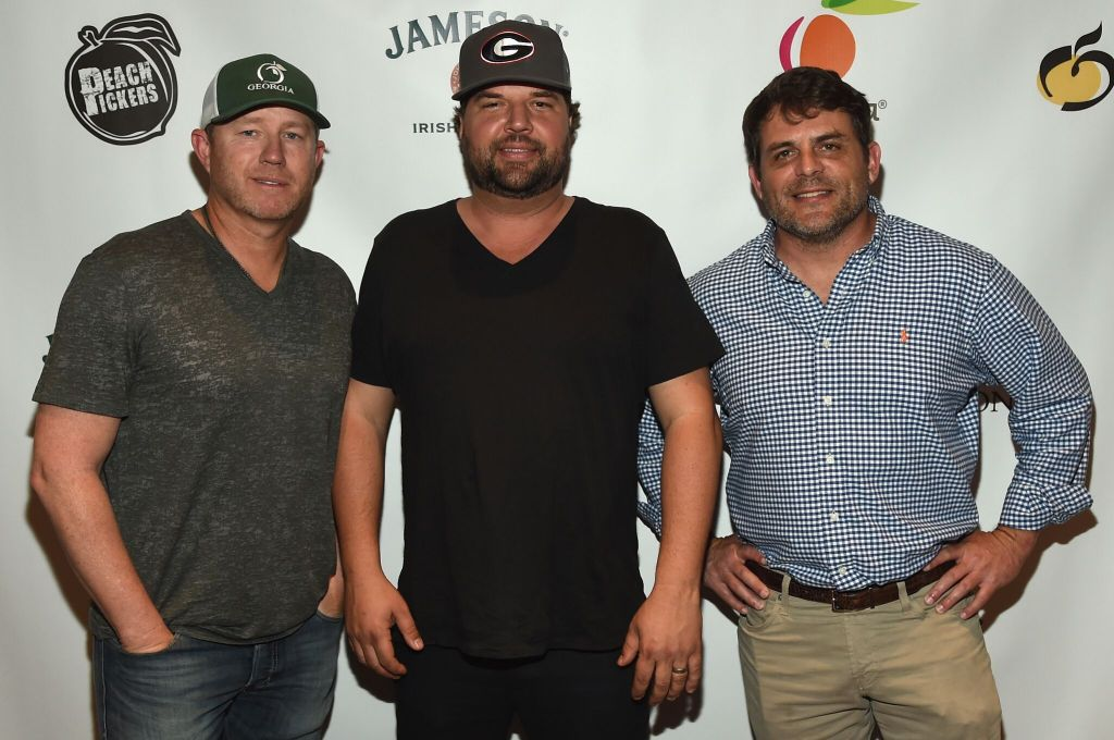 The Peach Pickers: Ben Hayslip, Dallas Davidson and Rhett Akins Photo credit: Rick Diamond / Getty