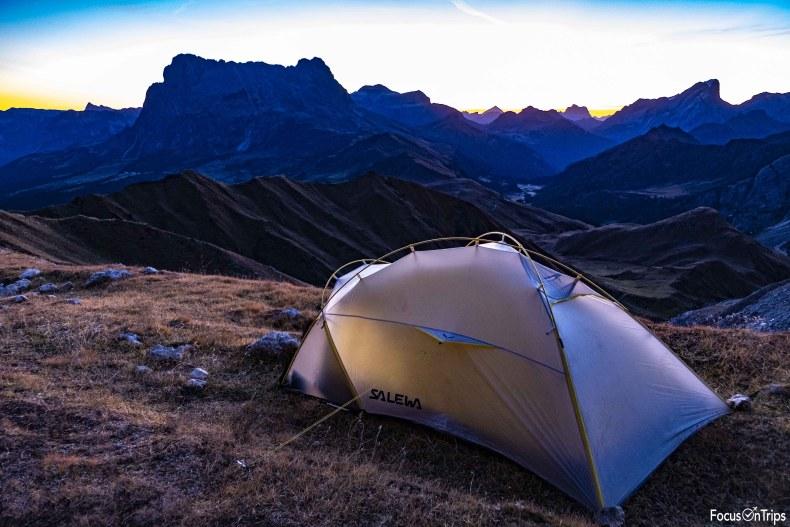 tenda Salewa trekking Alpe di Tires