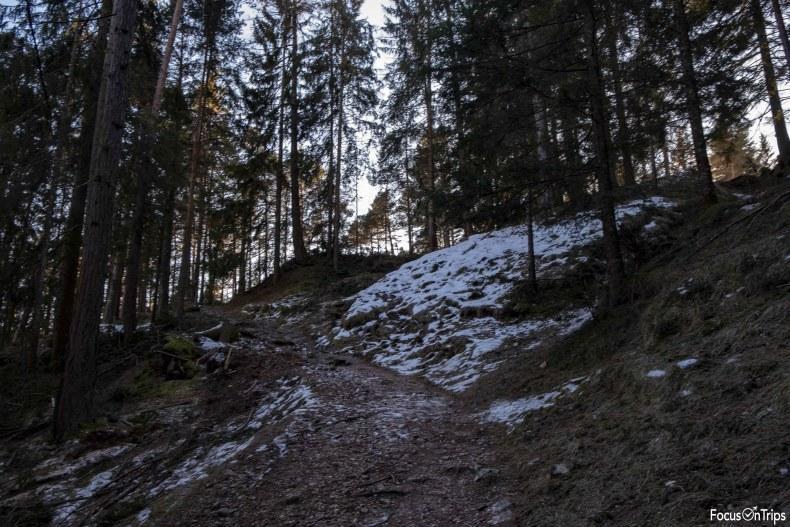 laghetto Wuhnleger escursione catinaccio invernale