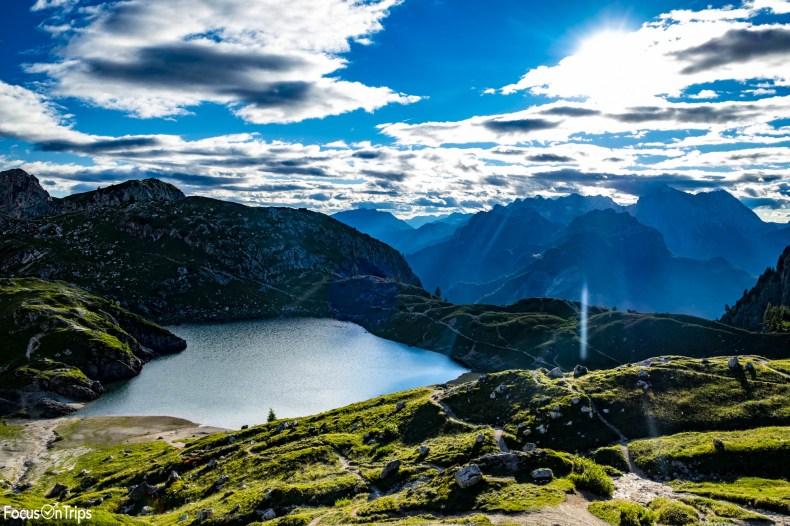 lago coldai trekking civetta da palafavera