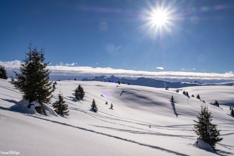 alpe di siusi neve ciaspole