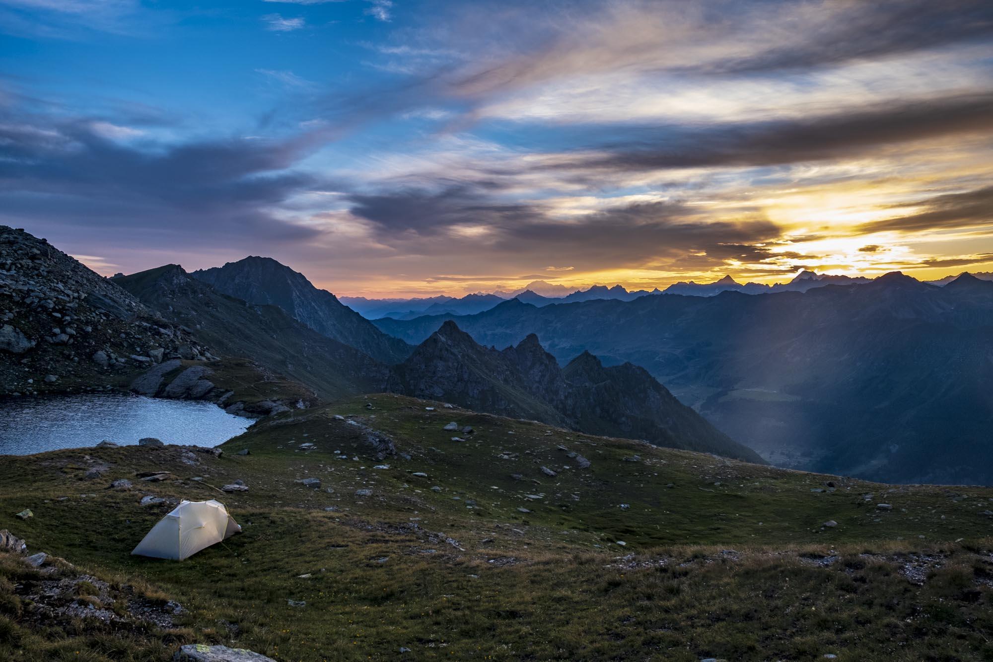 alta via 1 valle d'aosta tenda lac pinter