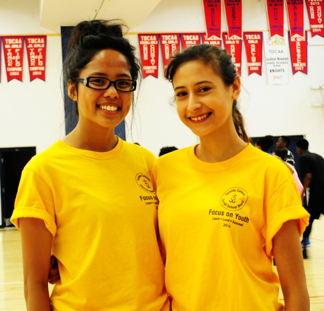 Focus On Youth staff (left to right) Mariel Gascon and Marlene Solano