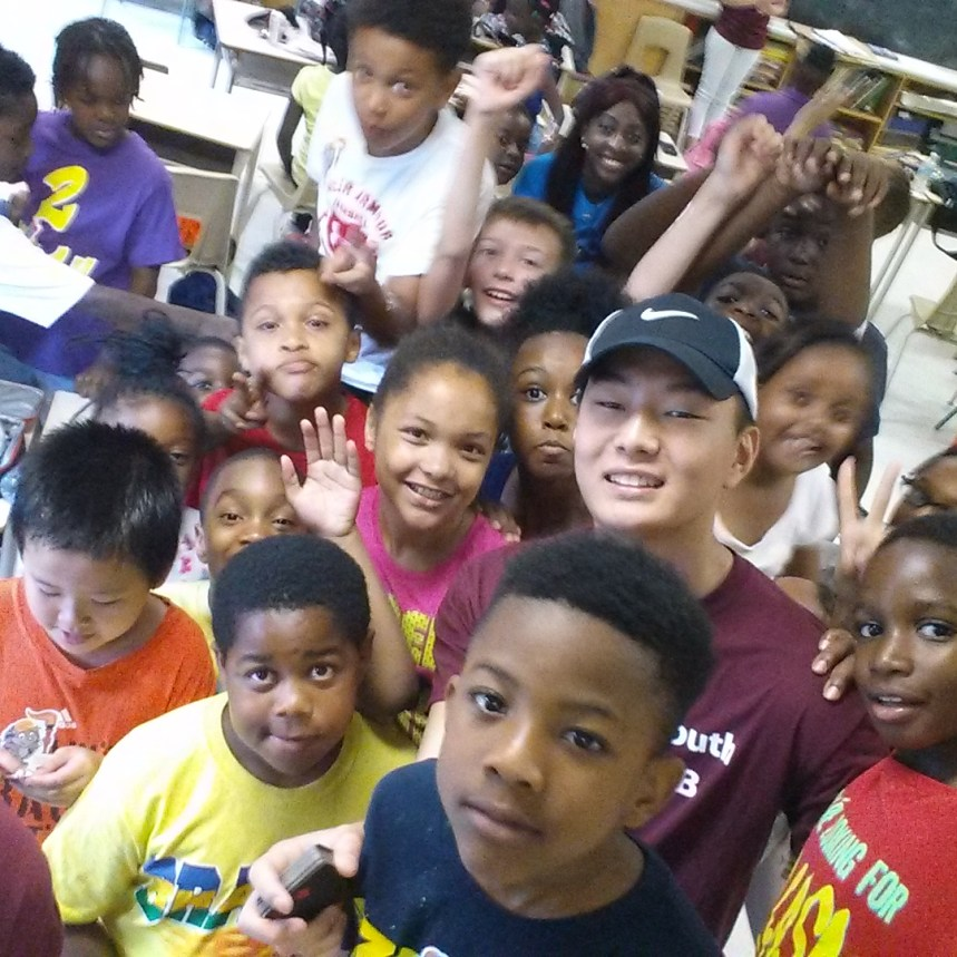 Selfie with the campers!
