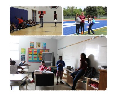 From top left: Sports Camp, Leadership Camp and Arts Camp