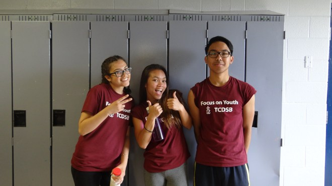 FOY staff (left to right): Mia (Vanier), Alyssa (Vanier), Miggy (Vanier(