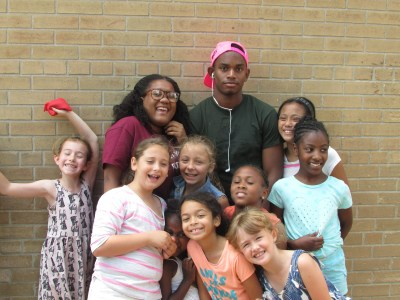 FOY staff receiving love from their campers