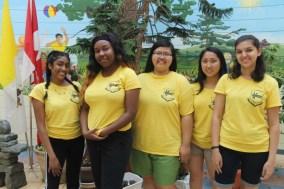 FOY Staff (L-R): Shenita Rambaran (Vanier), Takirah Stewart (Vanier), Gaia Pucyatan (Libermann), Karen Trinh (Vanier), & Ashley Tellis (Marshall)
