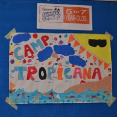 Camp Tropicana poster for the 5-7 year old age group.