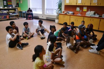 Drama role play with the campers.