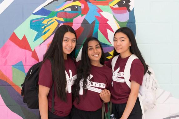 FOY Staff: Patricia (SMT), Grace (SMT), and Charlynne (SMT)