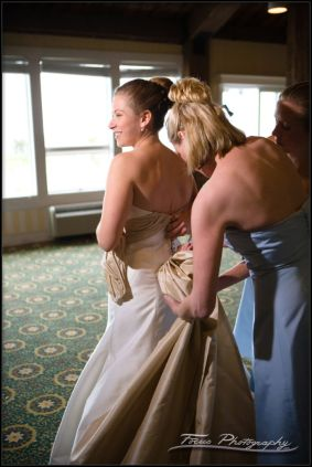 Tying the Bridal Gown