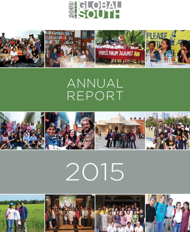 Annual Report Cover 2015