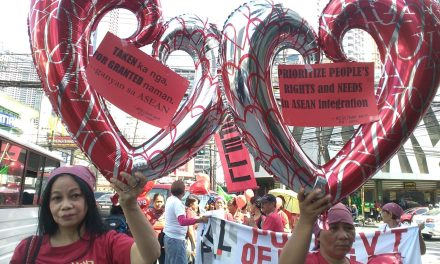 """Philippine CSOs to ASEAN Economic Community: """"People First Over Profits; Prioritize Peoples' Rights & Demands!"""""""