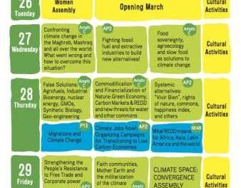 Programme of the Climate Space 2013 at the Word Social Forum