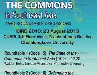Reclaiming and Defending the Commons in Southeast Asia: Two Round table discussions
