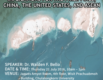 EVENT: The Hague Tribunal Judgement on Conflicting Claims in the South China Sea: Implications for the Philippines, China, the United States, and ASEAN
